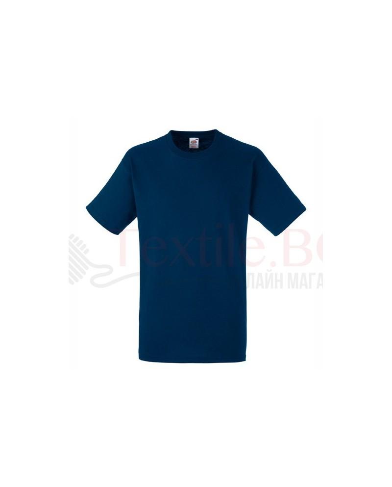 5 броя тъмно сини плътни мъжки тениски Fruit Of The Loom GmbH