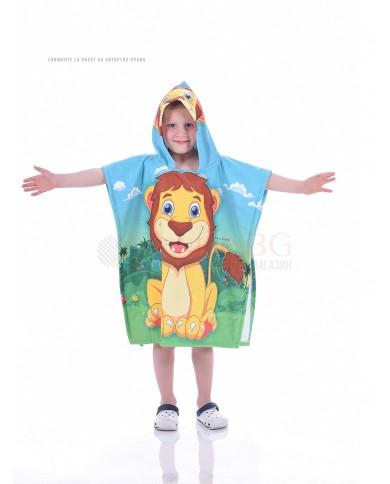 Детскo хавлиено пончо-Лъвче
