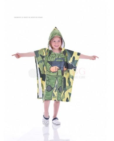 Детско хавлиено пончо-Войник