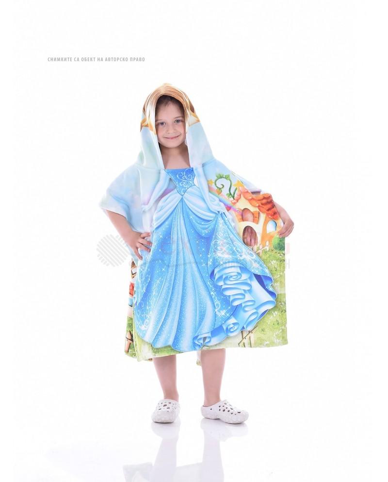 Детскo хавлиено пончо-Принцеса