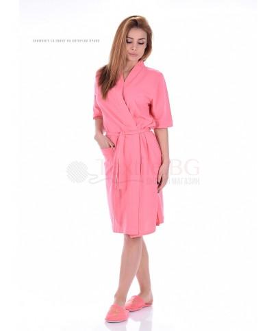 Дамски халат къс ръкав в два цвята