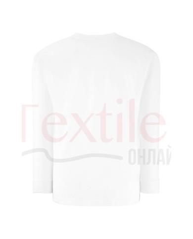Детска бяла тениска с дълъг ръкав Fruit Of The Loom GmbH