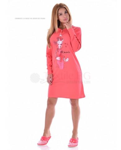 """Памучен дамски блузон със ситoпечат """"Мини Маус"""" в два цвята"""