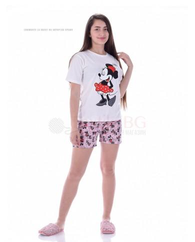 Юношеска пижама момиче с къс ръкав в две свежи комбинации