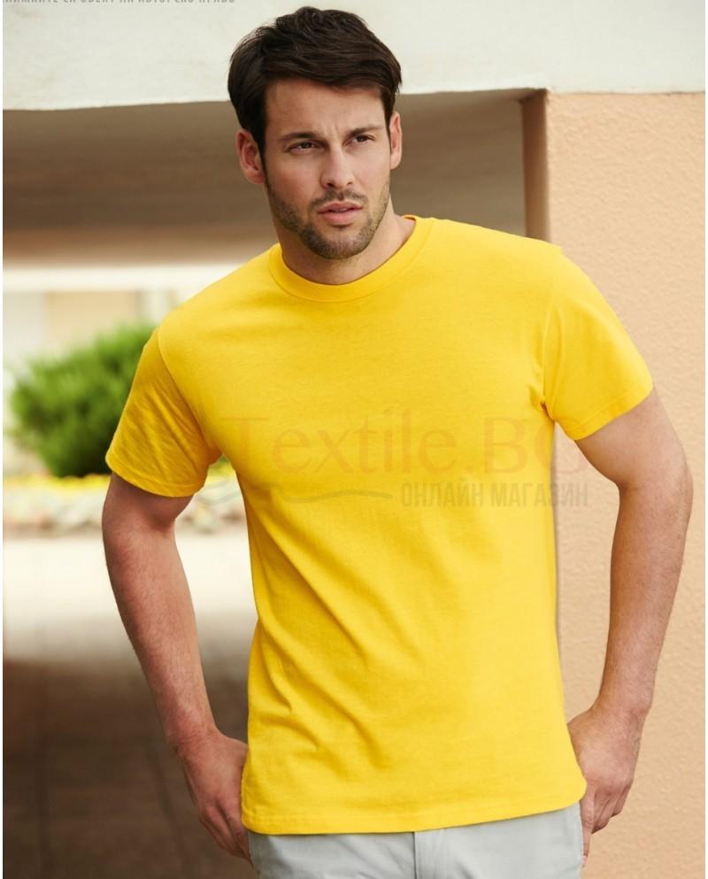 5бр. плътна тениска 100% памук 195гр/м2 Fruit Of The Loom GmbH