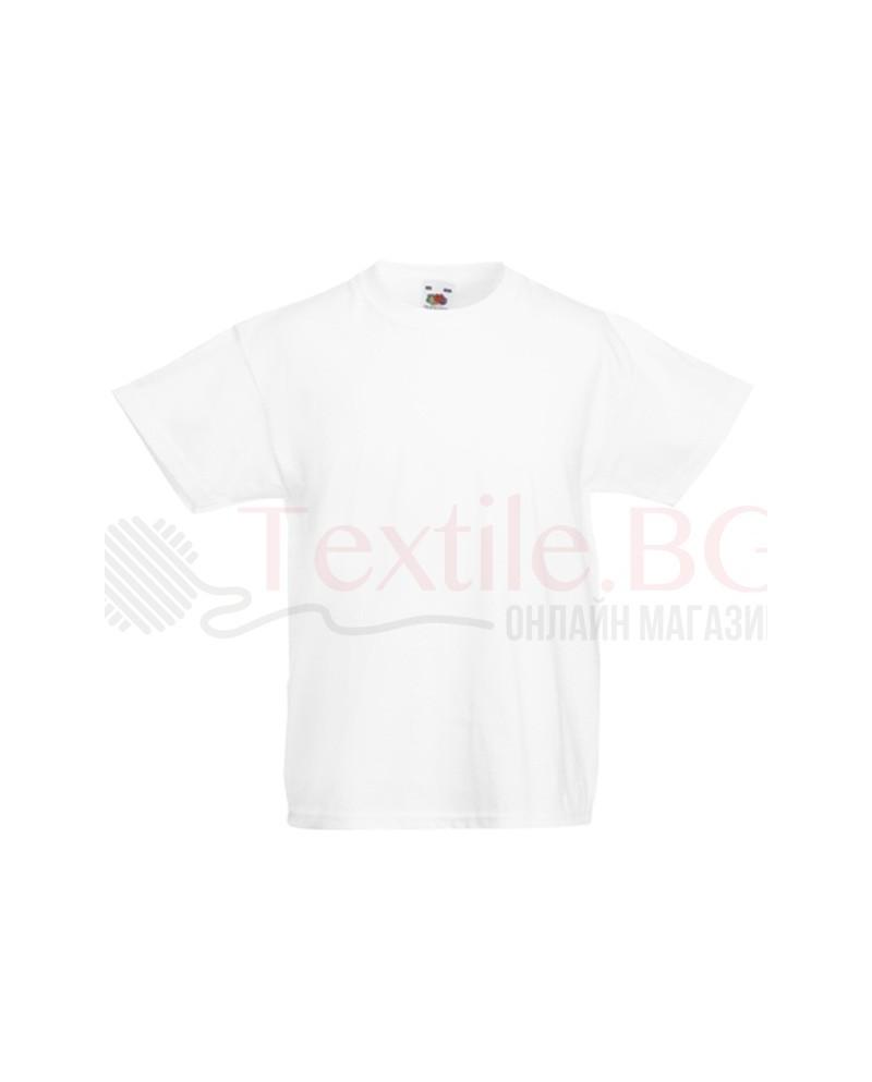 Детска бяла тениска Fruit Of The Loom GmbH