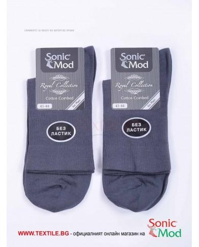 Мъжки чорапи пениран памук без ластик СОНИК МОД