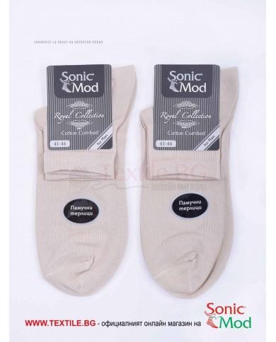 Мъжки чорапи пениран памук с къс конч СОНИК МОД
