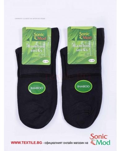 Черни мъжки чорапи бамбук с къс конч СОНИК МОД