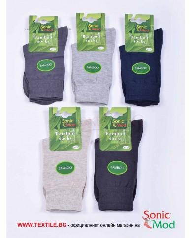 Комплект от 5 бр. дамски чорапи бамбук в класически цветове СОНИК МОД