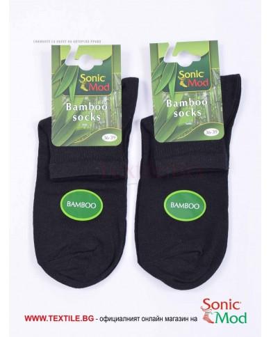 Черни дамски чорапи бамбук с къс конч СОНИК МОД