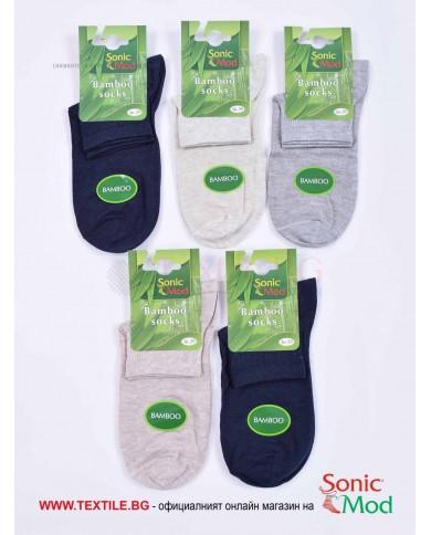 Комплект от 5 бр. дамски чорапи бамбук с къс конч в класически цветове СОНИК МОД