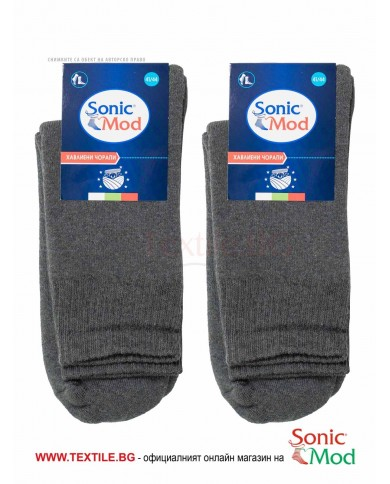 Антрацит мъжки чорапи термо СОНИК МОД