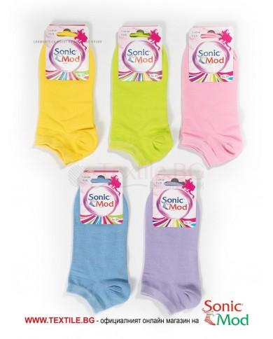 Комплект от 5 бр. дамски терлици памук/ликра в бонбонени цветове СОНИК МОД