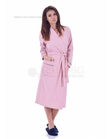 Дамски халат лукс в нежни цветове