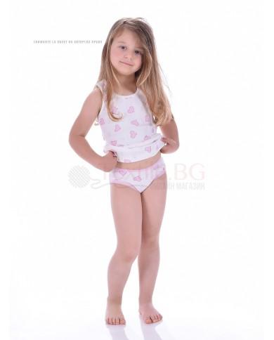 """Детска бикина момиче със сърчица комплект от 3 броя """"Бохем"""""""