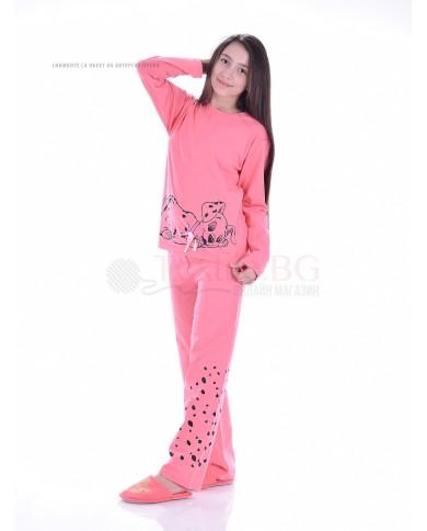 Юношеска пижама за момиче с далматинец в три цветови комбинации