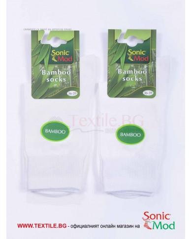 Бели дамски чорапи бамбук СОНИК МОД